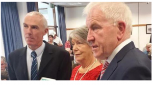 Tommy O'Connor, Kerry County Librarian, Kay Caball, Jimmy Deenihan T.D., Minister for Diaspora Affairs