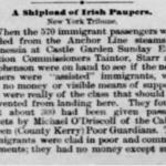Emigration Valentia 1883